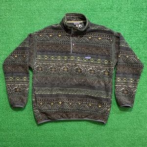 Vintage 90's Patagonia Synchilla All Over Print
